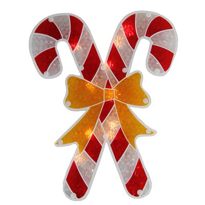 Holographic Candy Cane Christmas Window Silhouette