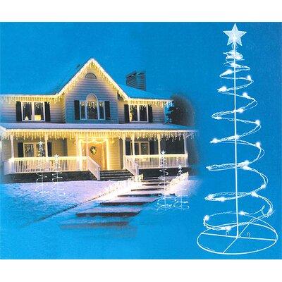 Spiral Light Christmas Tree Yard Decoration