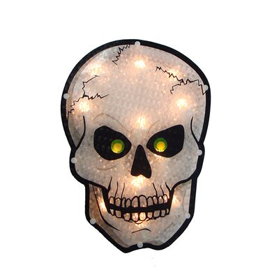 Holographic Skull Halloween Window Silhouette Decoration N240V112