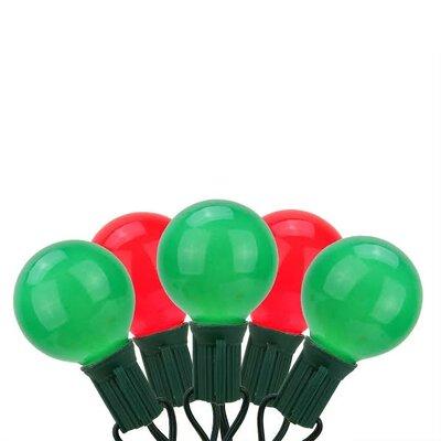 20 Light G50 Globe Christmas Light String Color: Red / Green