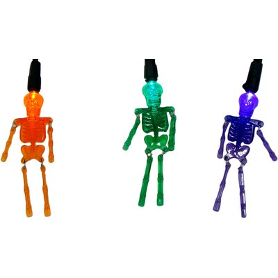 20 Light Skeleton Halloween Light String