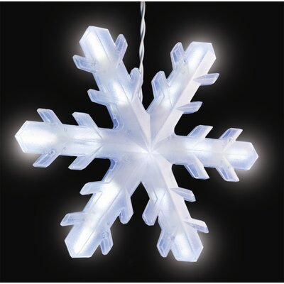36 Light LED 3-D Snowflake Icicle Christmas Light String