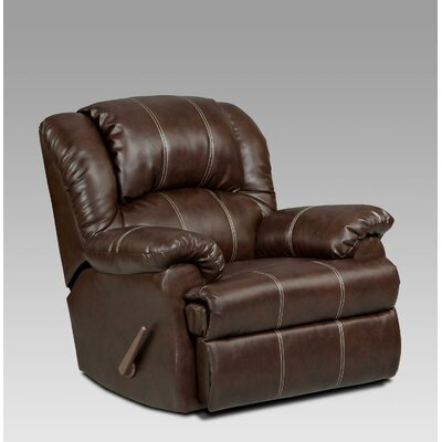 Ambrose Chaise Rocker Recliner Upholstery: Brandon Brown
