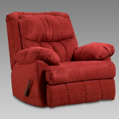 Payton Chaise Rocker Recliner Upholstery: Red Brick