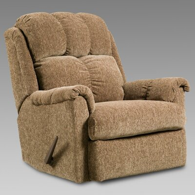 Rocker Recliner Upholstery: Tahoe Brown