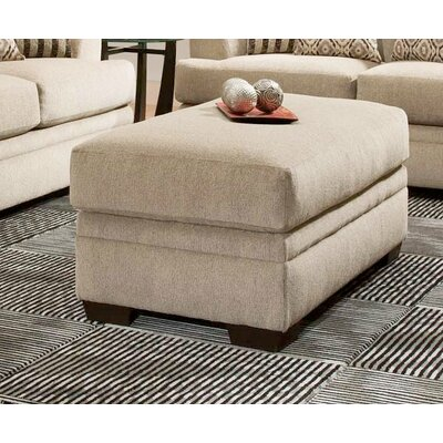 Calexico Ottoman Upholstery: Cornell Platinum