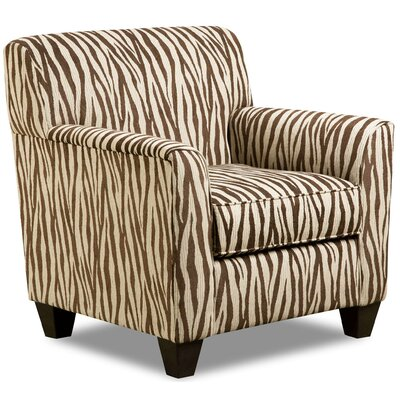 Zaire Armchair Color: Zebra Chocolate