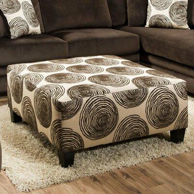 Rayna Ottoman Upholstery: Big Swirl Chocolate