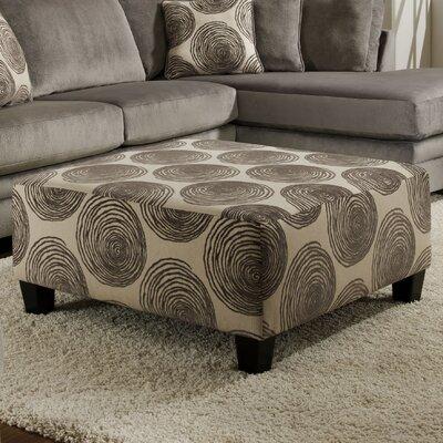 Rayna Cocktail Ottoman Upholstery: Big Swirl Smoke
