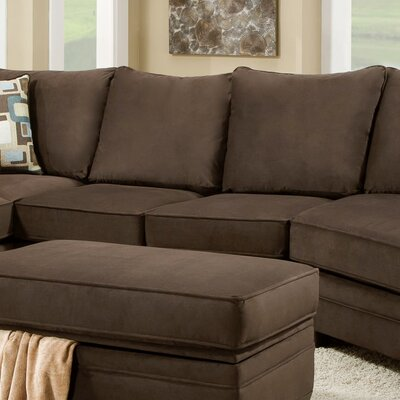 Cupertino Armless Loveseat Upholstery: Flannel Espresso