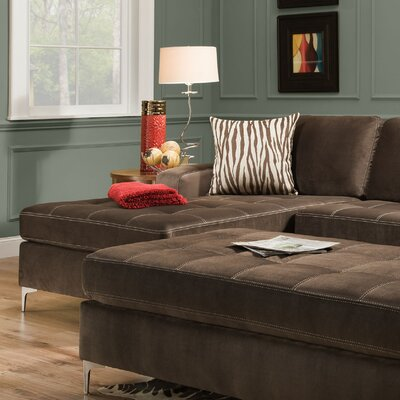Zaire Left Side Facing Chaise Upholstery: Marmot Seal