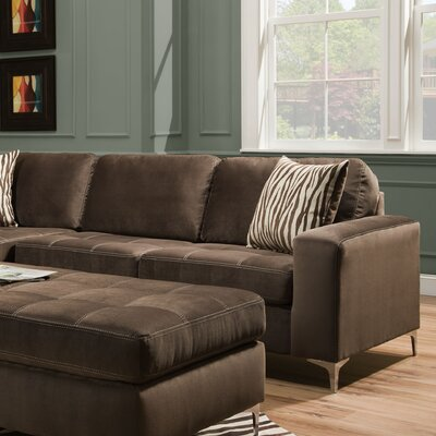 Zaire Right Side Facing 1 Arm Loveseat Upholstery: Marmot Seal