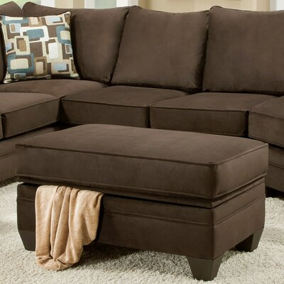 Cupertino Storage Ottoman Upholstery: Flannel Espresso