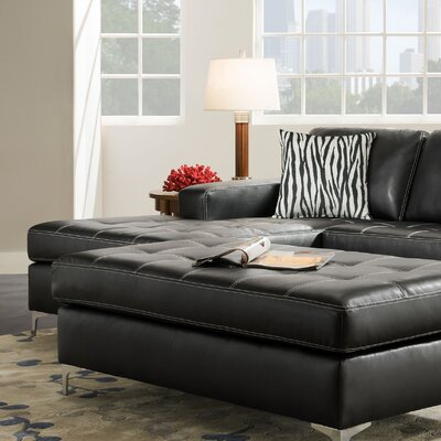 Zaire Left Side Facing Chaise Upholstery: Oregon Gunmetal