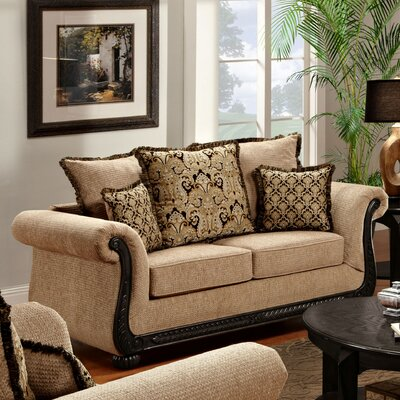 Carol Loveseat Upholstery: Delray Taupe