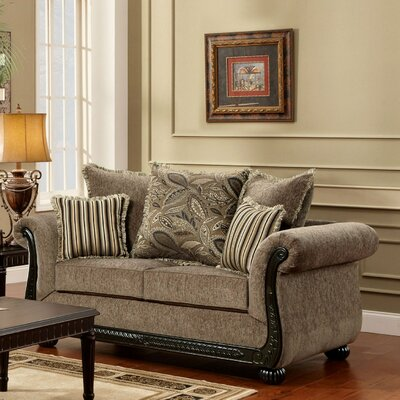 Carol Loveseat Upholstery: Dream Java