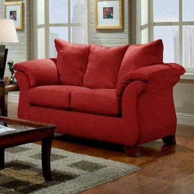 Payton Loveseat Upholstery: Red Brick