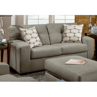 Rockland Loveseat Upholstery: Victory Lane Dolphin