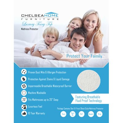 Chelsea Home Luxury Terry Mattress Protector - Size: Twin XL