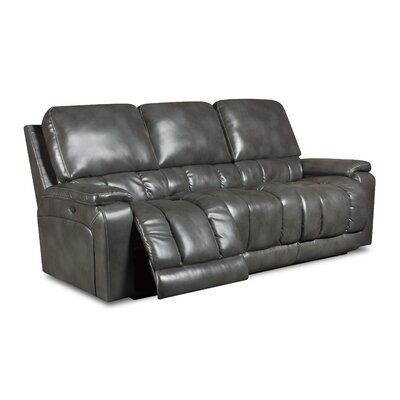 Bane Reclining Sofa Upholstery: Butler Charcoal