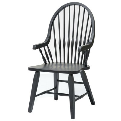 Teakwood Arm Chair Finish: Black
