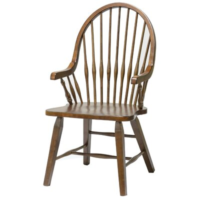 Teakwood Arm Chair Finish: Tobacco