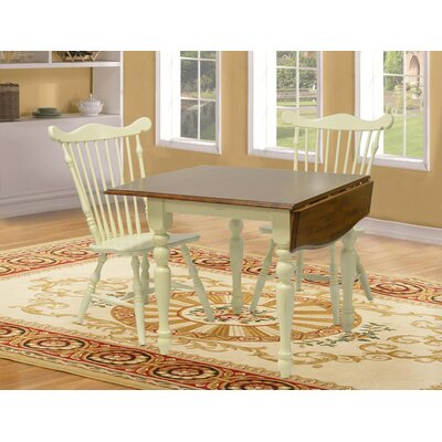 Boxborough Extendable Dining Table Finish: Buttermilk & Cherry