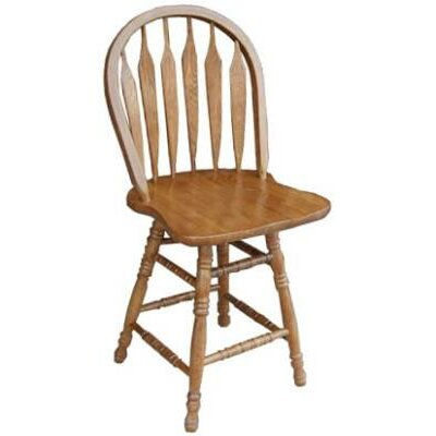 24 Bar Stool Finish: Medium Oak
