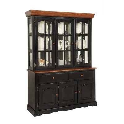 Boston China Cabinet Color: Black & Cherry