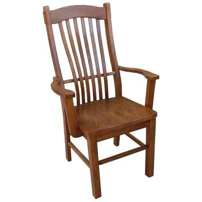 Solid Wood Dining Chair Finish: Medium Oak