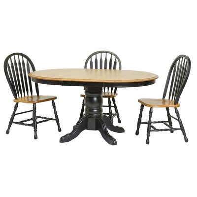 Tory Extendable Dining Table Finish: Harvest & Black