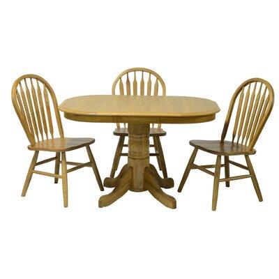 Temple High Pedestal Dining Table Finish: Harvest Oak