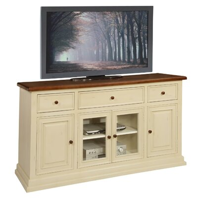 Lancaster 62 TV Stand Color: Buttermilk And Cherry
