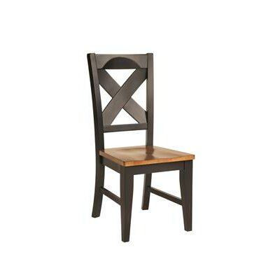 Toby Solid Wood Dining Chair Finish: Harvest & Black