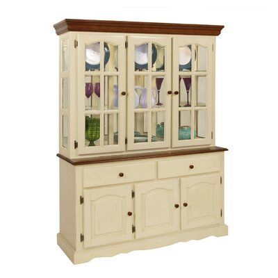 Boston China Cabinet Finish: Buttermilk & Cherry