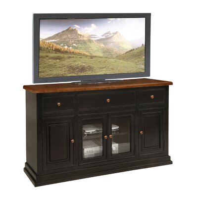 Lancaster 62 TV Stand Color: Black & Cherry