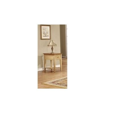 Tolliver End Table Color: Pecan & Black
