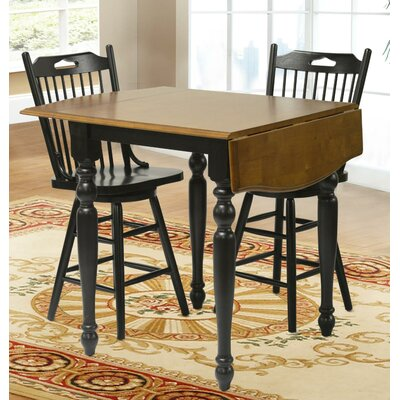 Boxford Extendable Dining Table Finish: Black & Cherry