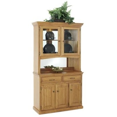 Phyre China Cabinet Finish: Medium Oak