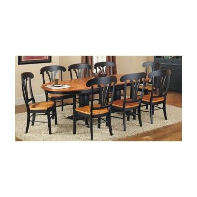 Avon Dining Table Finish: Harvest & Black