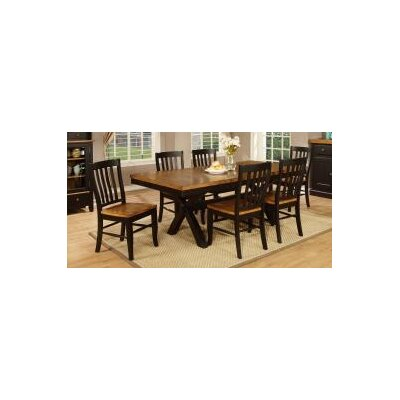 Vail Dining Table Finish: Harvest & Black