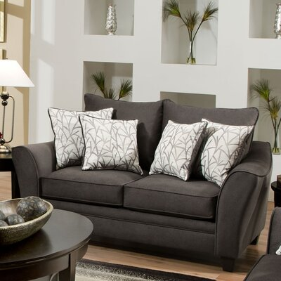 183852-4040 AMF1472 Chelsea Home Flannel Loveseat