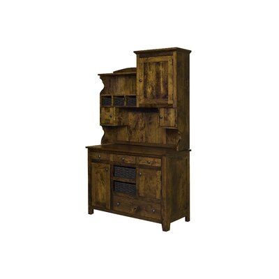Charlottesville Hutch with Basket Standard China Cabinet Color: Michaels Cherry