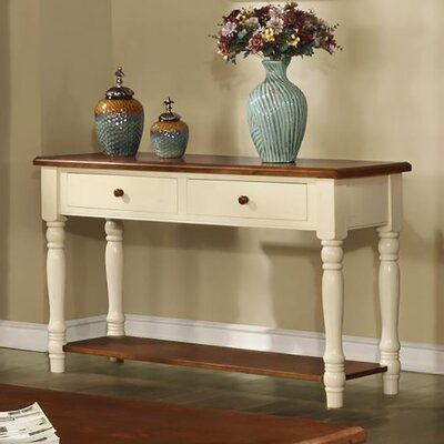 Brimfield Console Table Finish: Buttermilk & Cherry