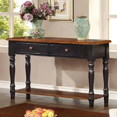 Brimfield Console Table Finish: Black & Cherry