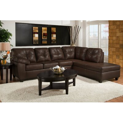181474-4110-SEC-S-TM Chelsea Home Thomas Mahogany Sectionals