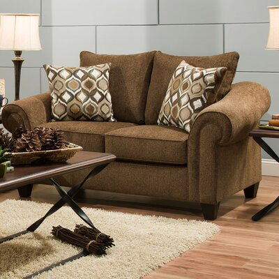 Alfred Loveseat Upholstery: Caravane Chocolate