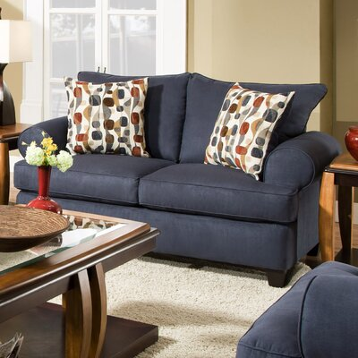William Loveseat Upholstery: Soho Navy