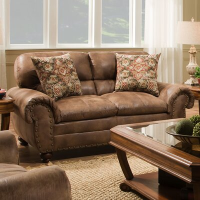 Richard Loveseat Upholstery: Rochester Hazelnut