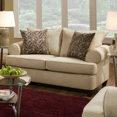 William Loveseat Upholstery: Montana Buff